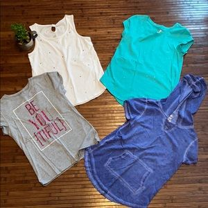 Lot of 4 Girls tops size 10